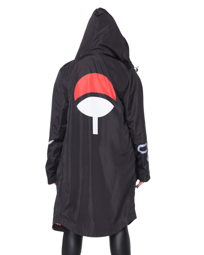 """AKATSUKI"" rain coat female back"