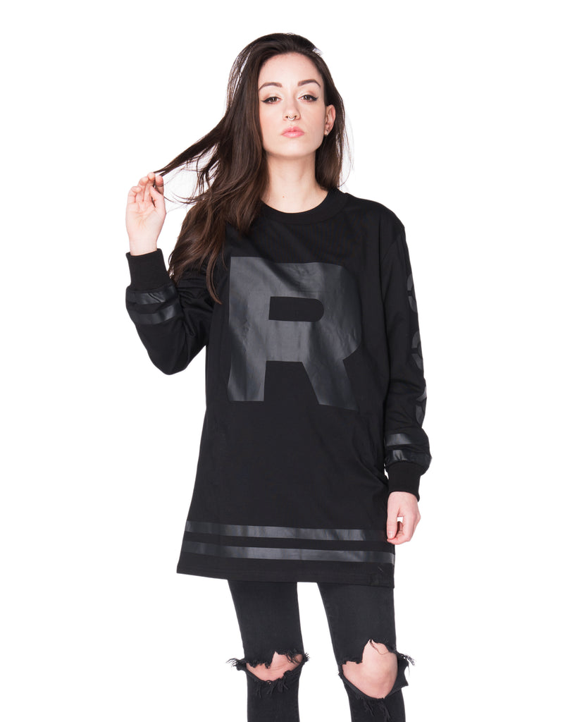 """ROCKET"" jersey stealth black female front"