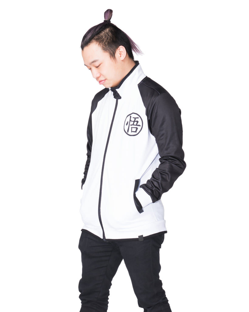 """LIMIT BREAKER"" track jacket black male front"
