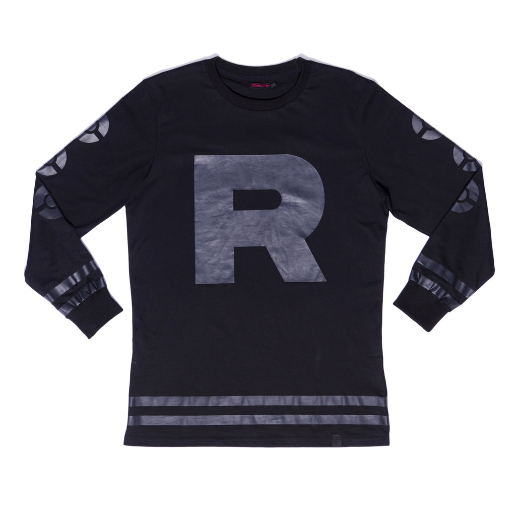 """ROCKET"" jersey stealth black front"
