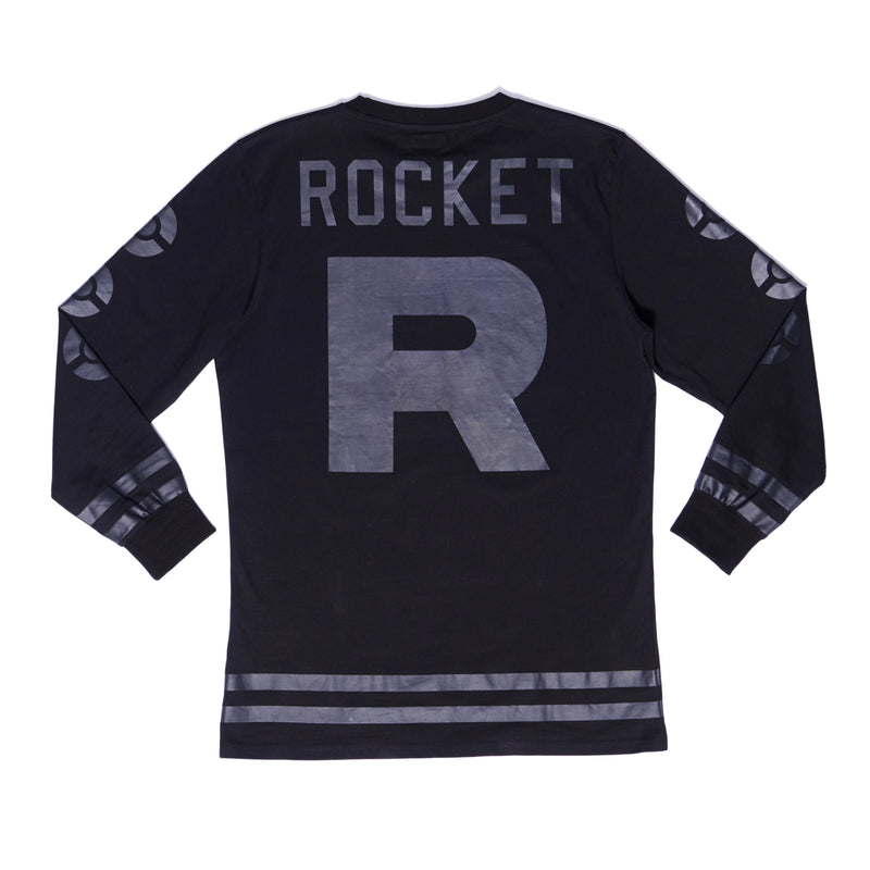 """ROCKET"" jersey stealth black male back"