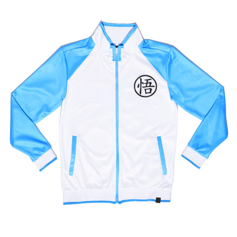 """PLAYER 1"" varsity jacket (blue)"