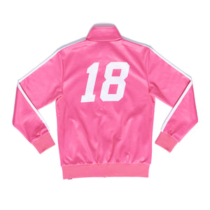 """EIGHTEEN"" track jacket back"