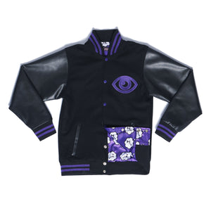 """DREAM EATER"" varsity jacket front"