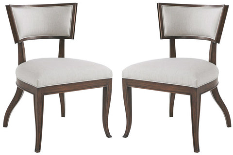 Set of Modern Klismos Dining Chairs