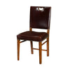 Leather Upholstered Campaign Side Chair