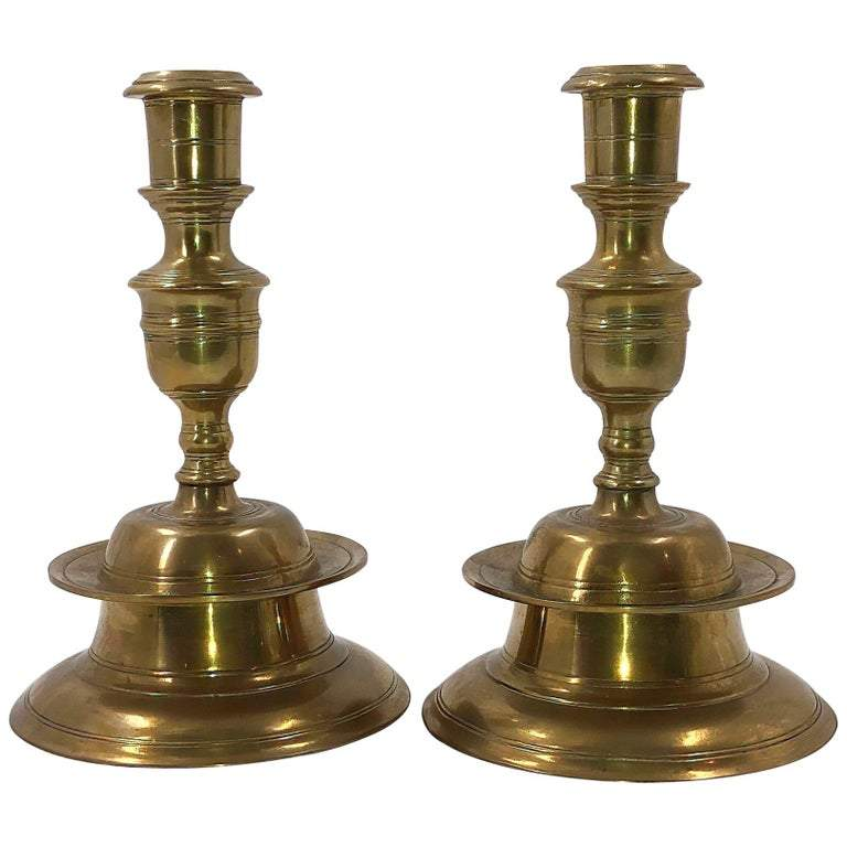 Pair of Capstan Candlesticks