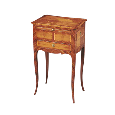 French Transitional Tulipwood Inlaid Side Table