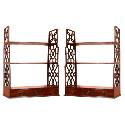 Pair of George III Hanging Shelves