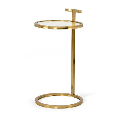 Mid Century Brass End Table