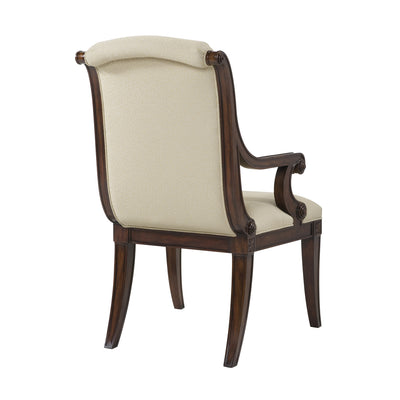 Modern Scroll Back Armchair, Set of 2