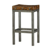 Gunmetal Iron Plank Seat Bar Stool