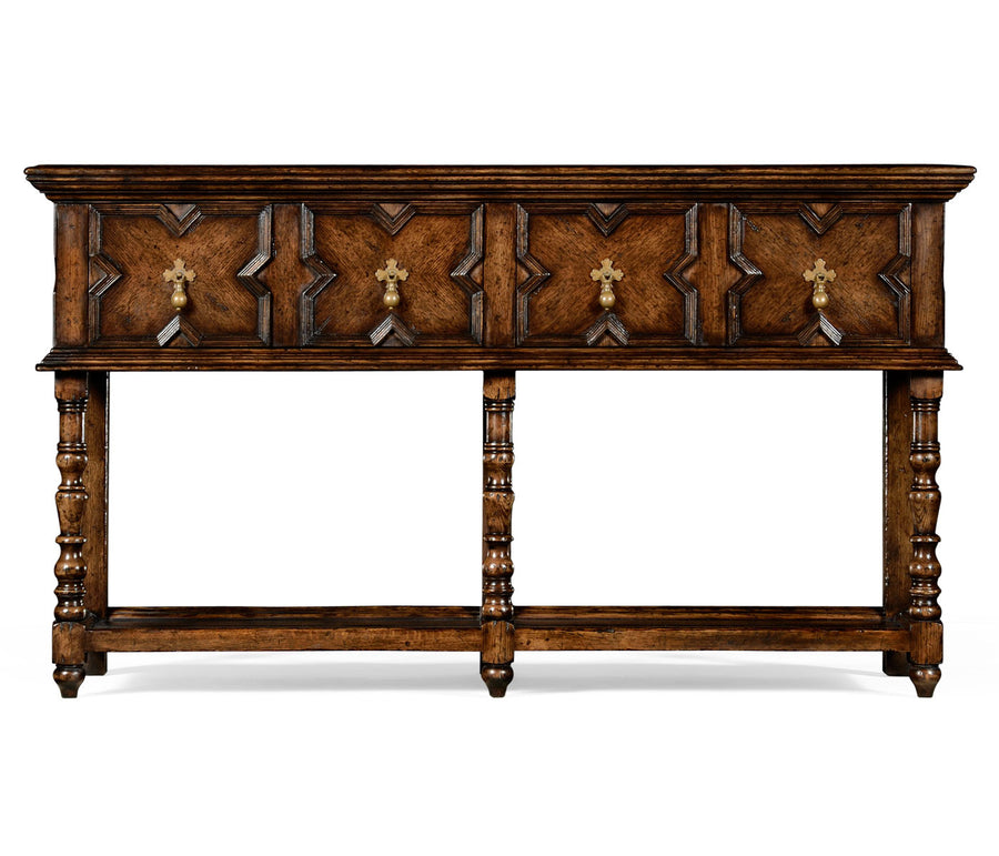 French Tudor Style Oak Server