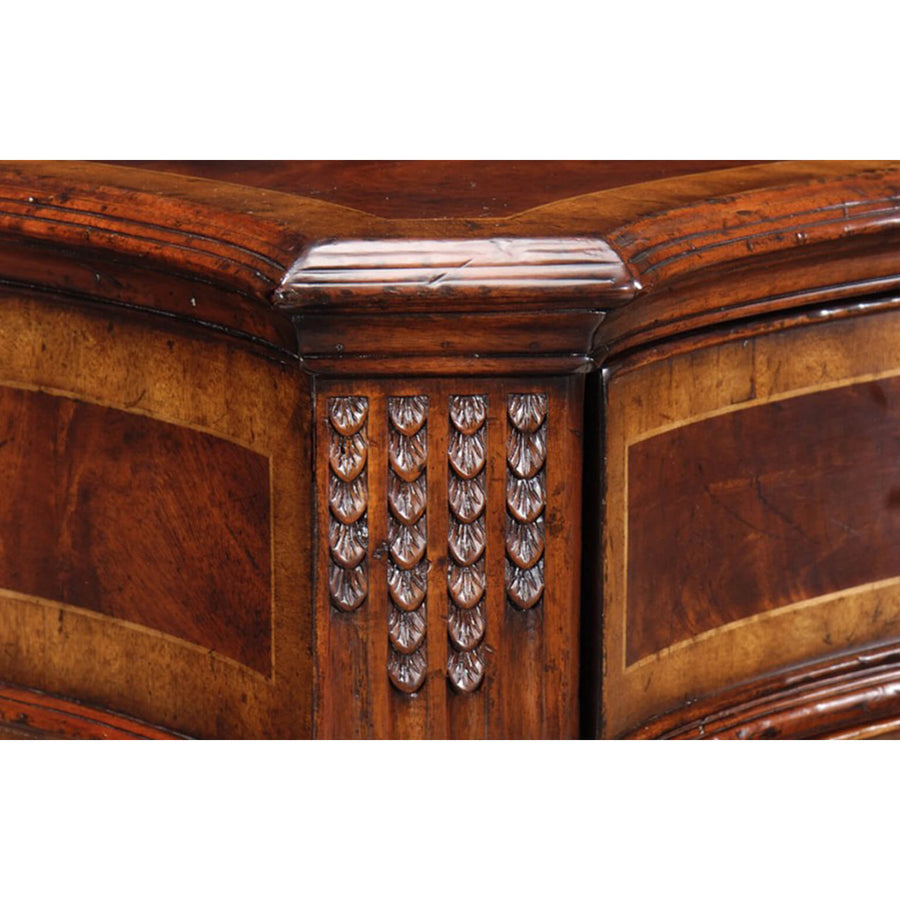 Chippendale Serpentine Mahogany Sideboard