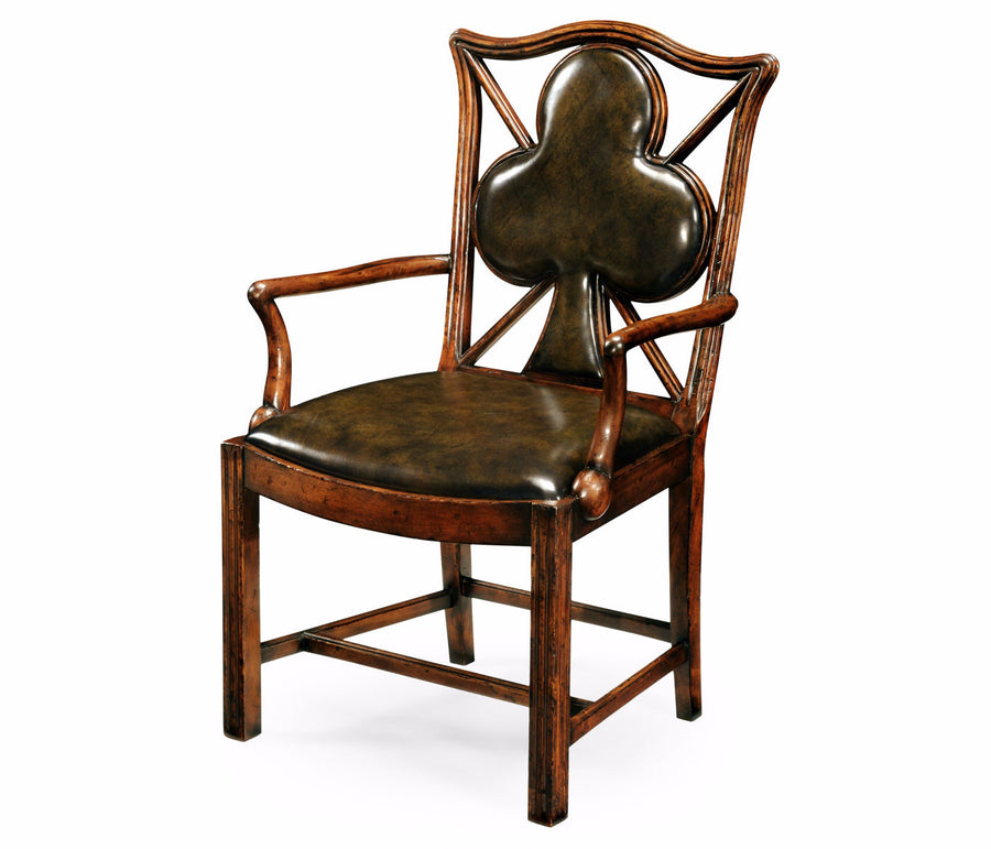 "English Walnut ""Clubs"" Armchair"