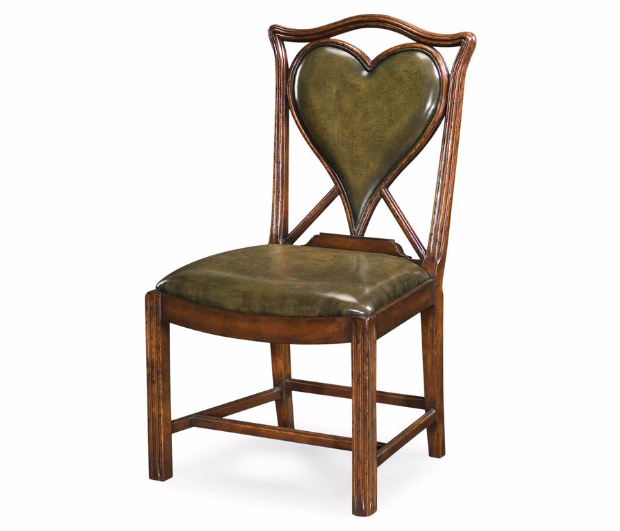 "English Walnut ""Hearts"" Sidechair"
