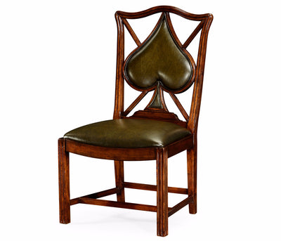"English Walnut ""Spades"" Sidechair"