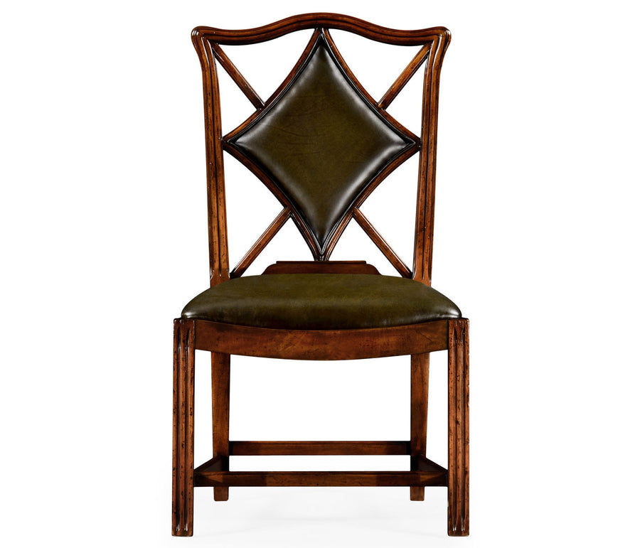 "English Walnut ""Diamonds"" Sidechair"