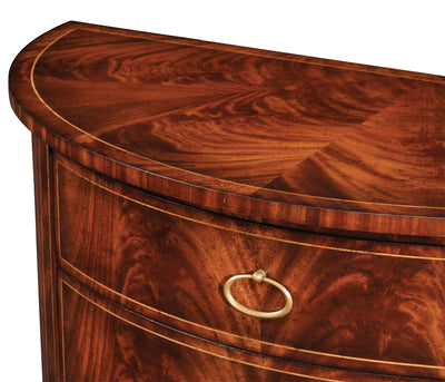 Regency Style Demilune Chest of Drawers