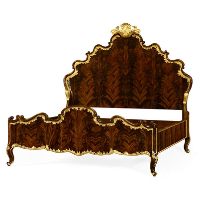Carved Rococo Antique Bed