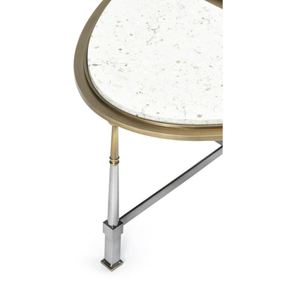 Art Deco Style Marble Top Cocktail Table