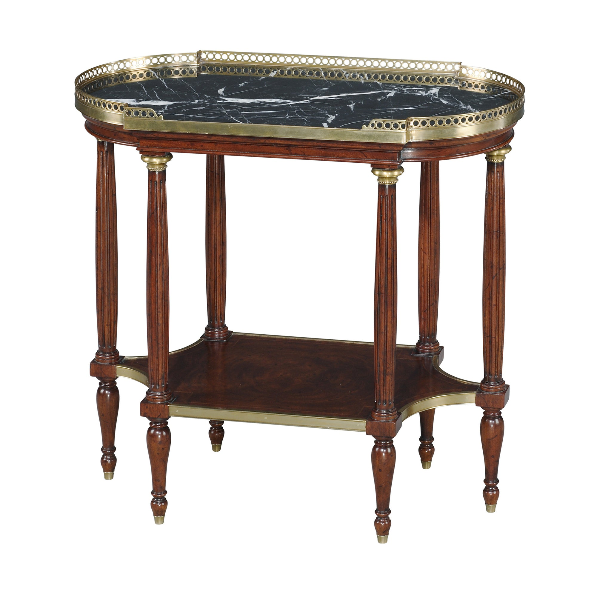 Louis XVI Marble Top Lamp Table