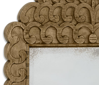Vitruvian Washed Oak Mirror