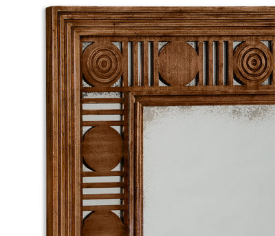 Carved Openwork and Fluted Mirror