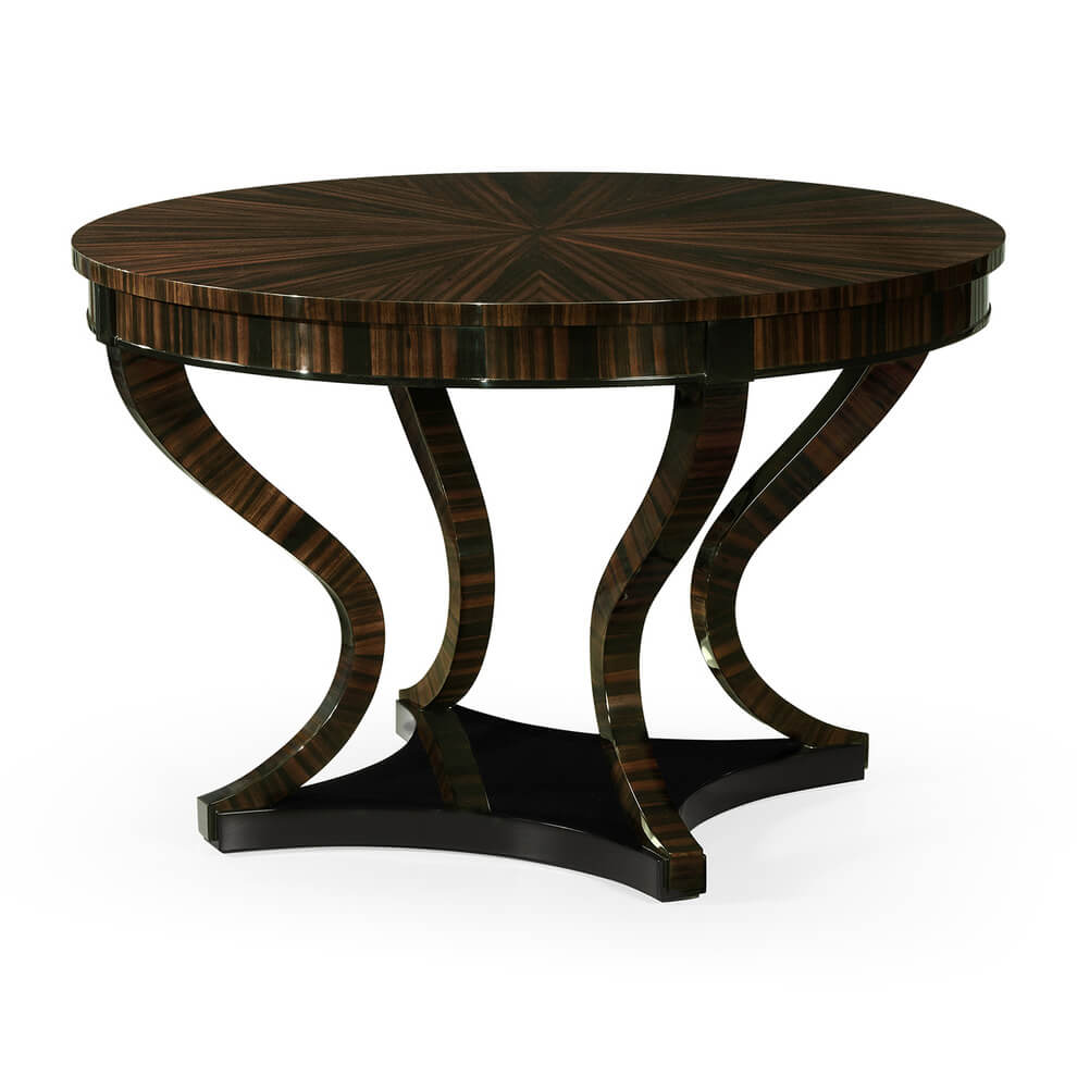 Art Deco Macassar Center Table