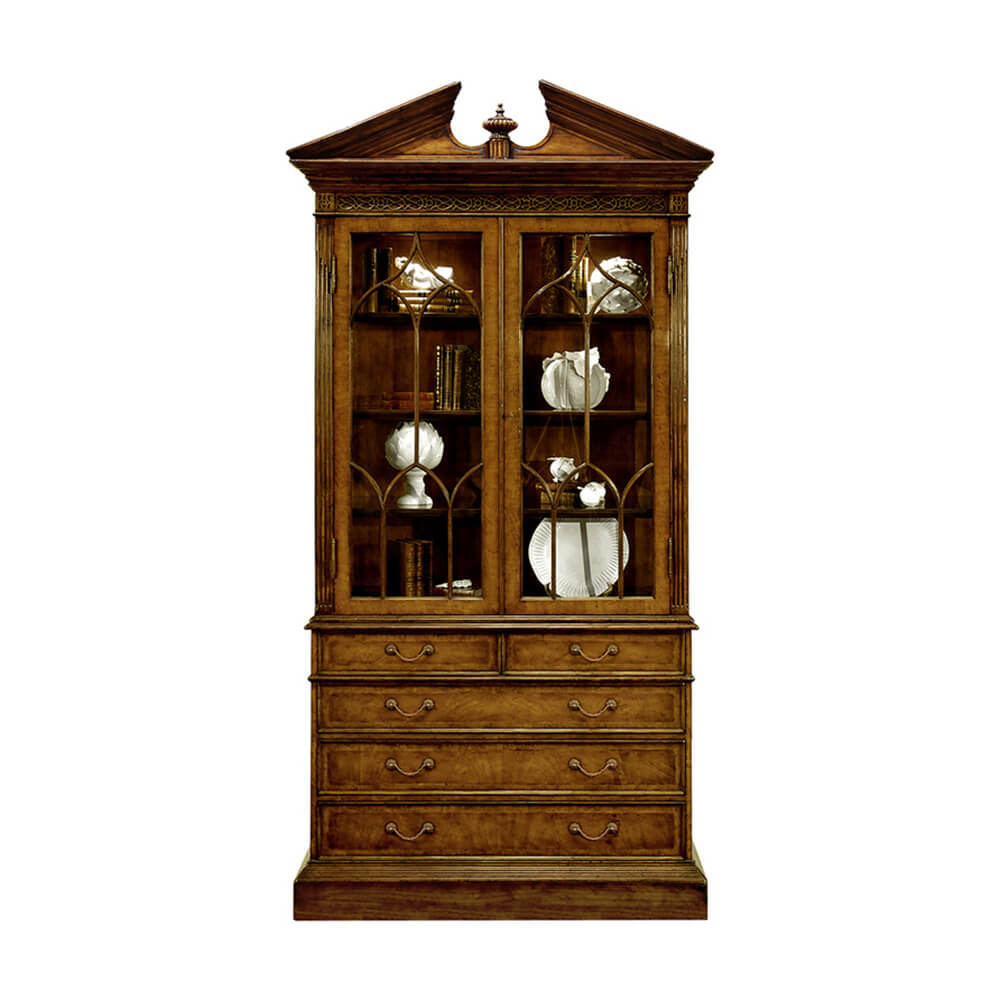George II Walnut Display Cabinet