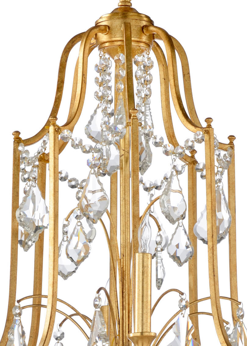 Swedish Neo Classic Gilt Chandelier