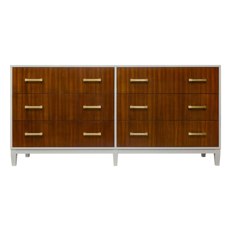 "Facets Modern 72"" Dresser - Ribbon Mahogany"