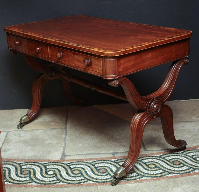 Regency Curule Form Writing Table