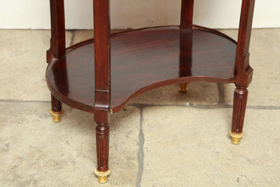 French Mahogany Oval Side Table