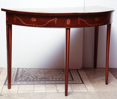 George III Mahogany Inlaid Console Table