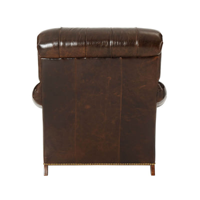 Leather Upholstered Club Chair