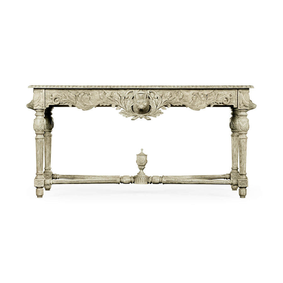 George III Greyed Oak Console