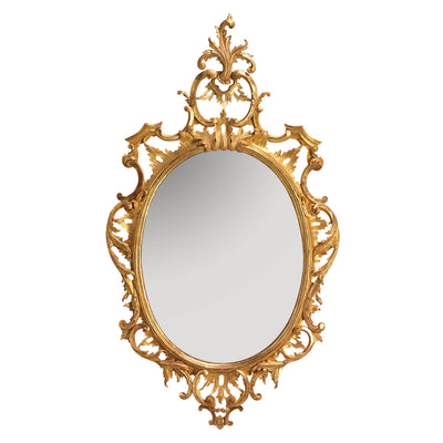 Traditional Chippendale Oval Mirror