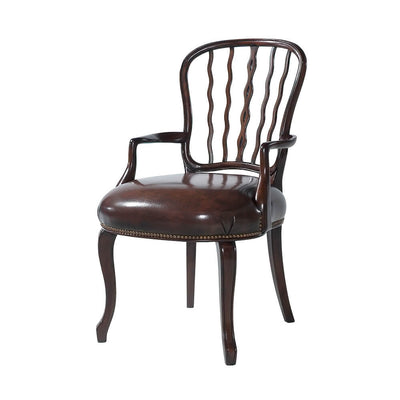 George III (Hepplewhite) Mahogany Dining Armchair, Set of 2