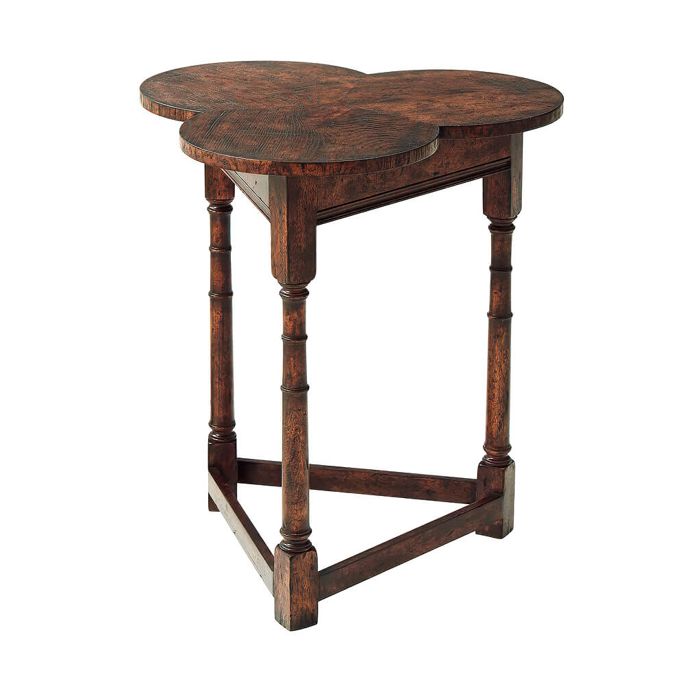 English Cricket Clover Side Table