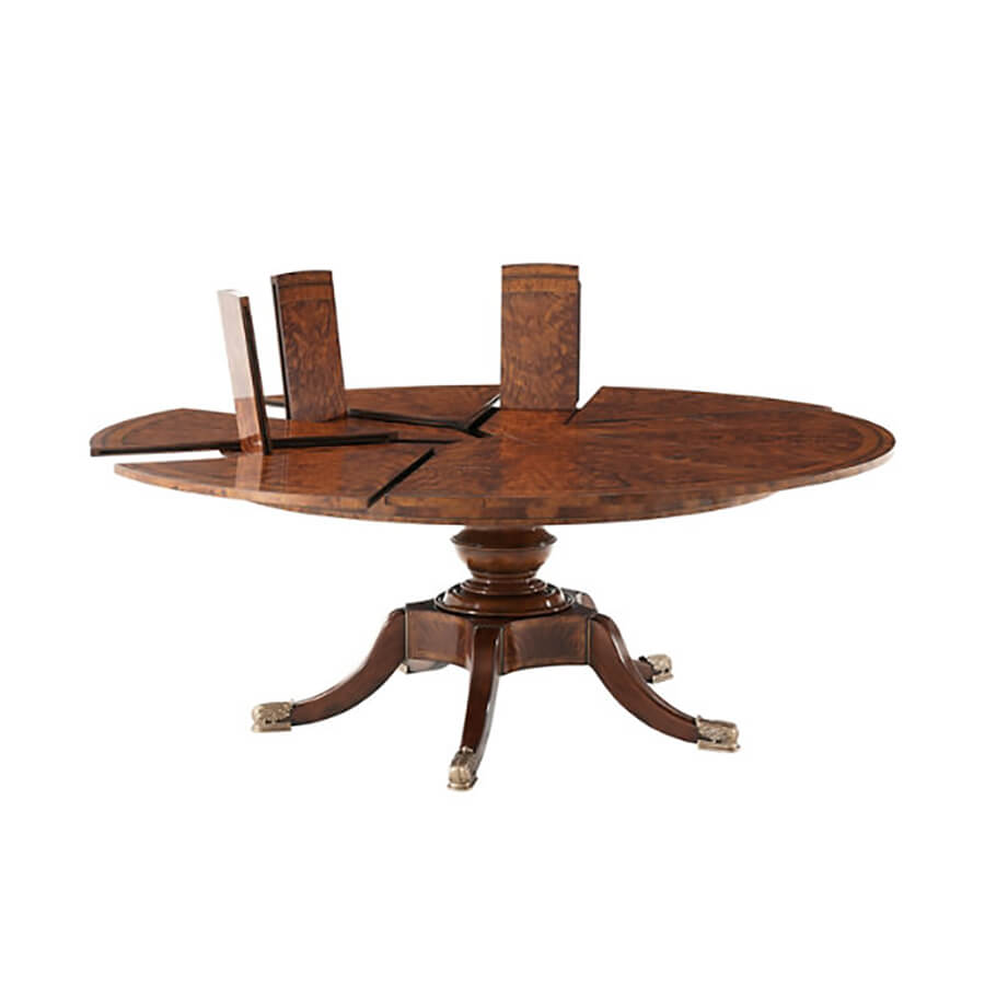 Regency Mahogany Jupe Extension Dining Table