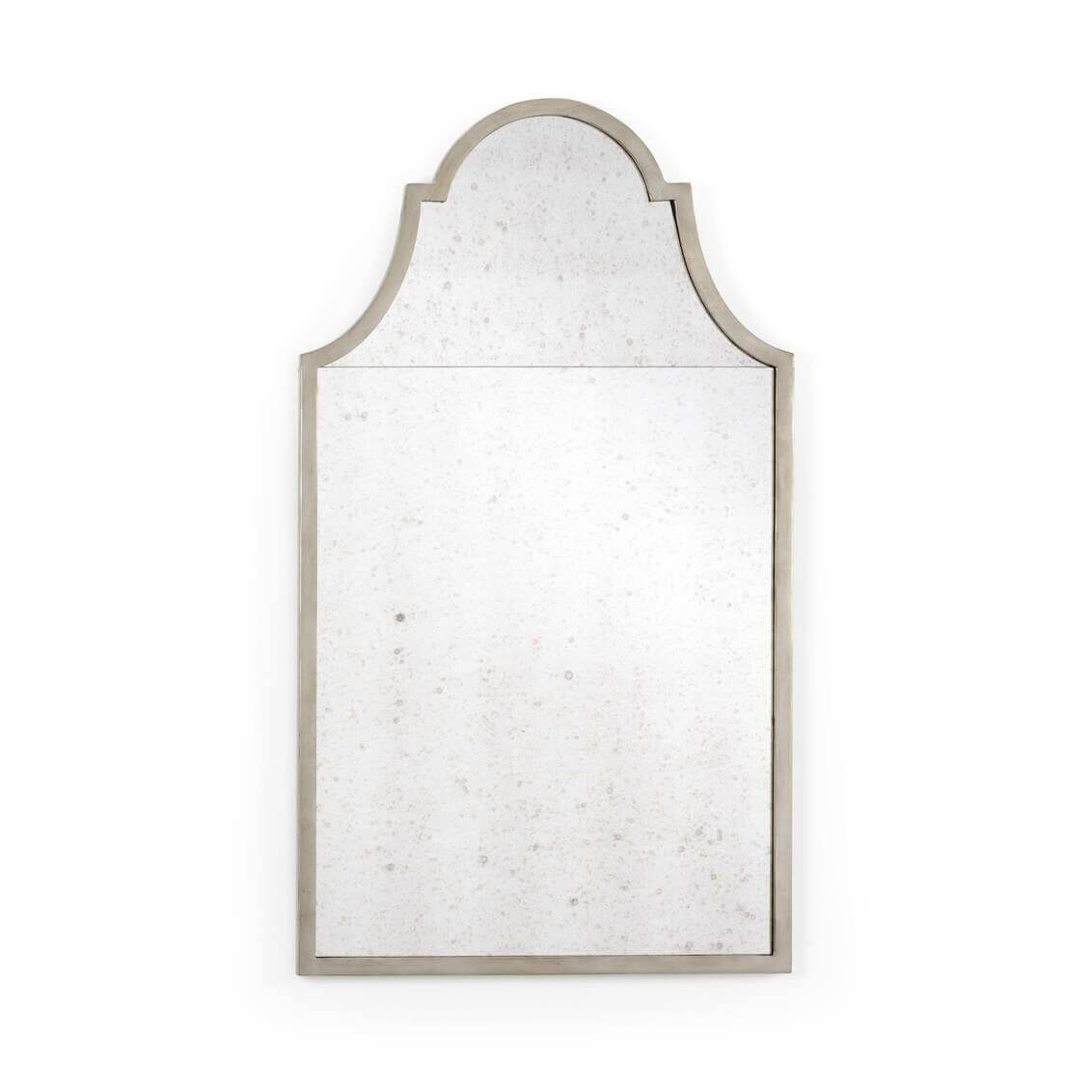 Antiqued Silvered Wall Mirror