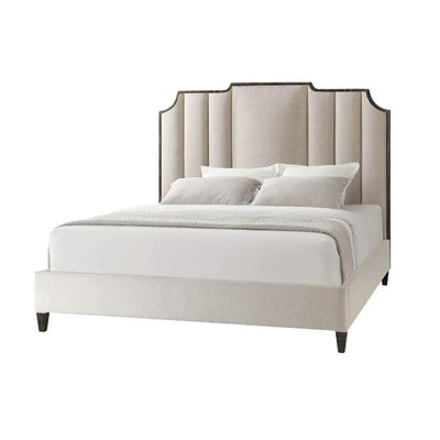 Art Deco Inspired Upholstered King Bed