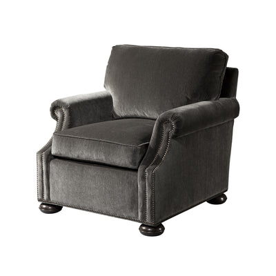 Traditional Bun Foot Upholstered Club Chair
