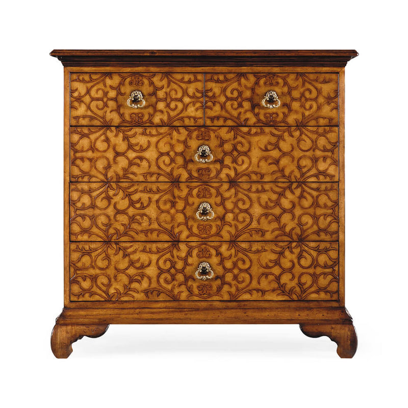Walnut Arabesque Chest