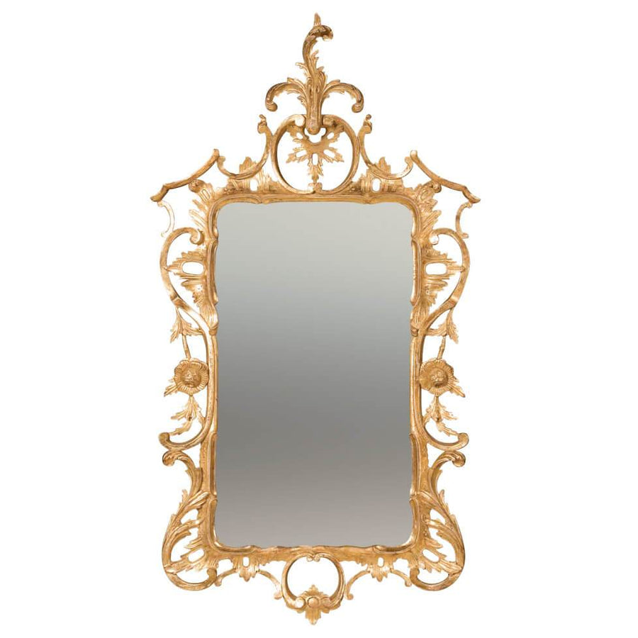Chippendale Giltwood Pier Mirror