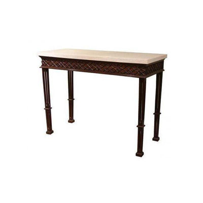 Chippendale Mahogany Side Table with Blind Fretwork