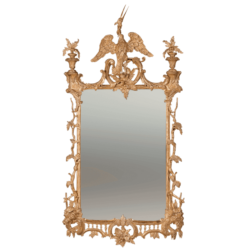 Chippendale Mirror with Ho Ho Bird Surmount