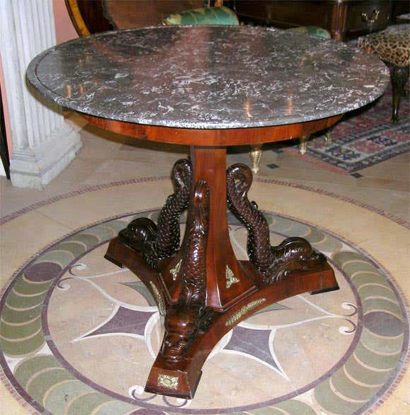 Empire Marble-Top Center Table