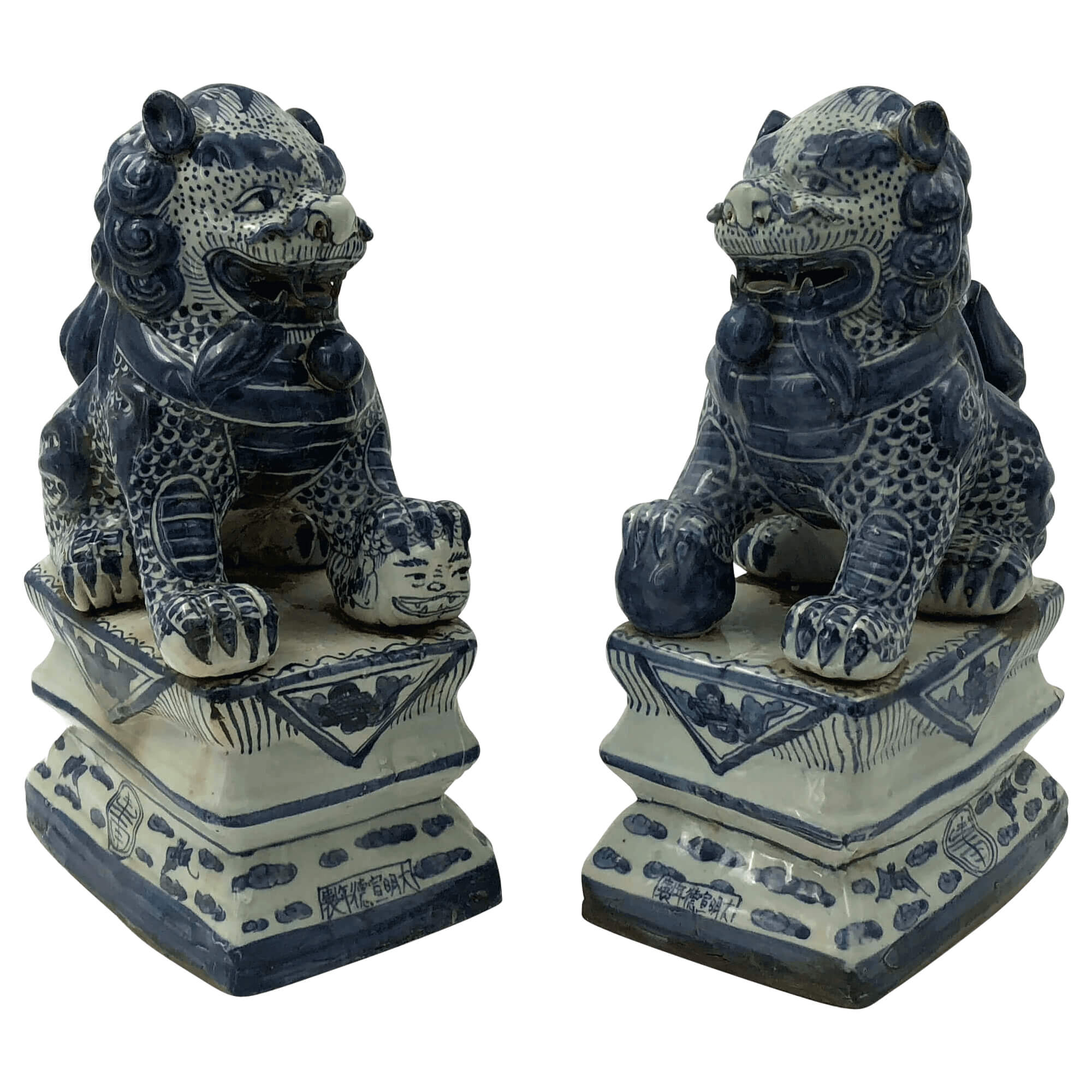 Large Pair of Chinese Lions